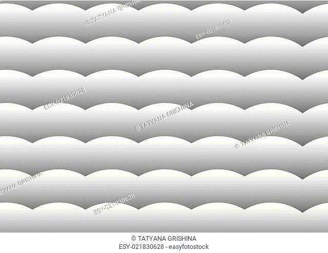 Vector seamless background. Gray gradient wave