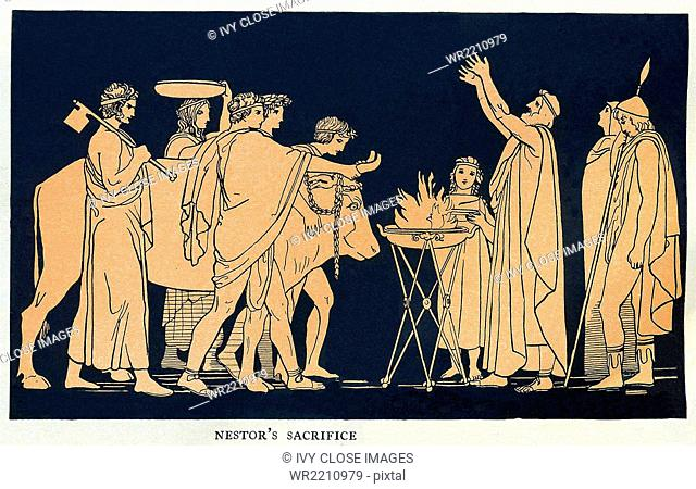 According to Greek mythology and legend, Telemachus was the son of Penelope and Odysseus, a Trojan War hero whose return trip home took 10 years