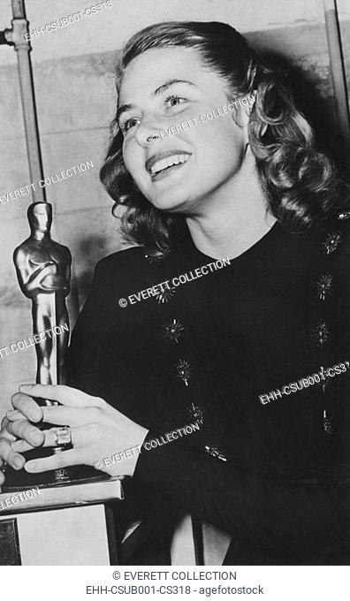 Ingrid Bergman won the Academy Award for Best Actress for her performance in 1944 film GASLIGHT. (CSU-2015-7-322)