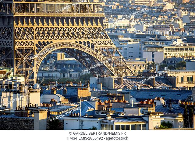 France, Paris, area listed as World Heritage by UNESCO, the Eiffel Tower