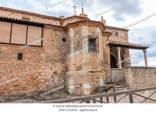 Iglesia de Santa María Church, Moya, Cuenca province, Castile la Mancha, Spain. Historic and Artistic Heritage