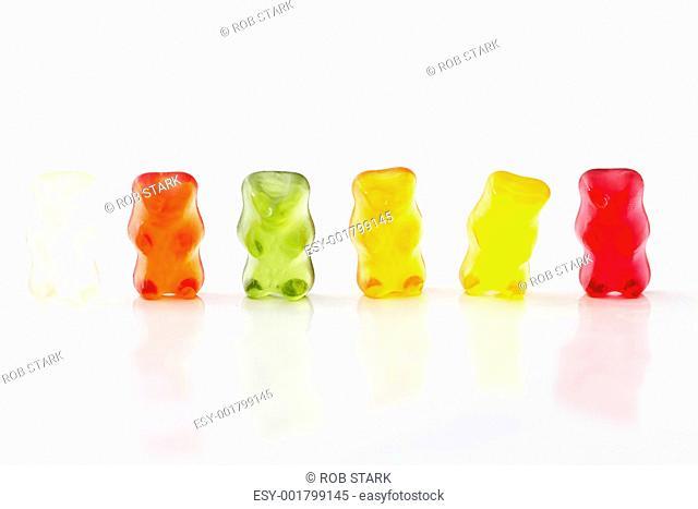 row of jelly bears