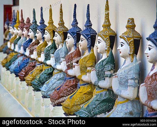 row of statues, Wat Muen Ngen Kong, Chiang Mai, Thailand