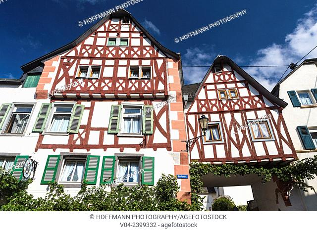 Timbered houses in Ediger-Eller, Rhineland-Palatinate, Germany, Europe