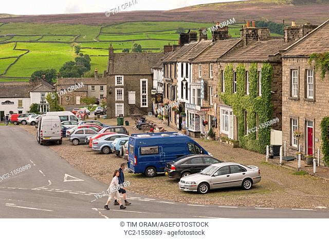The village of Reeth in Swaledale in North Yorkshire , England , Britain , Uk