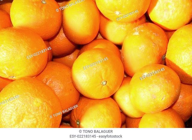 tengerine oranges on mediterranean market