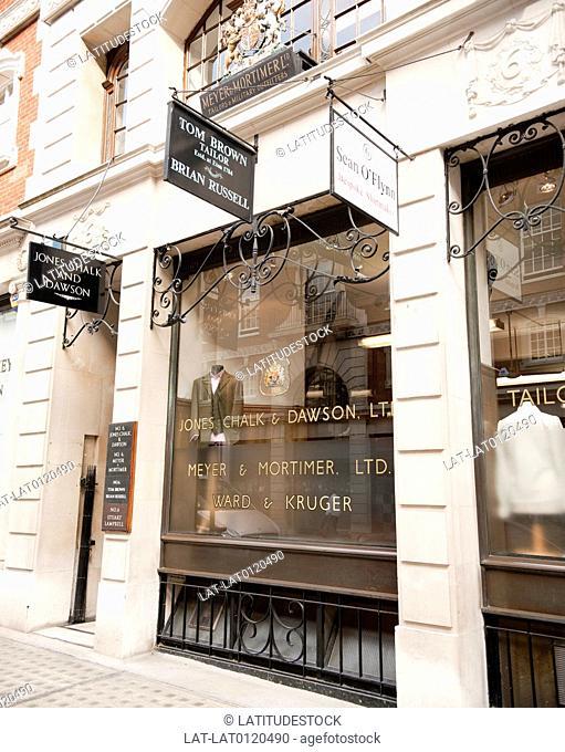 Jones Chalk and Dawson, Tailors, Sackville Street, Mayfair, London