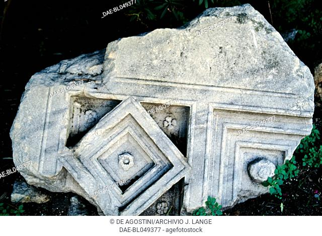 Decorative element from the Gymnasium, Syracuse (UNESCO World Heritage List, 2005), Sicily, Italy. Roman civilisation, 1st century AD