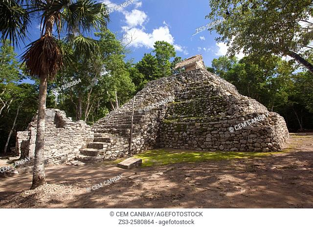 Conjunto Pinturas-Paintings Complex at the Prehispanic Mayan city of Coba Archaeological Site, Quintana Roo, Yucatan Province, Mexico