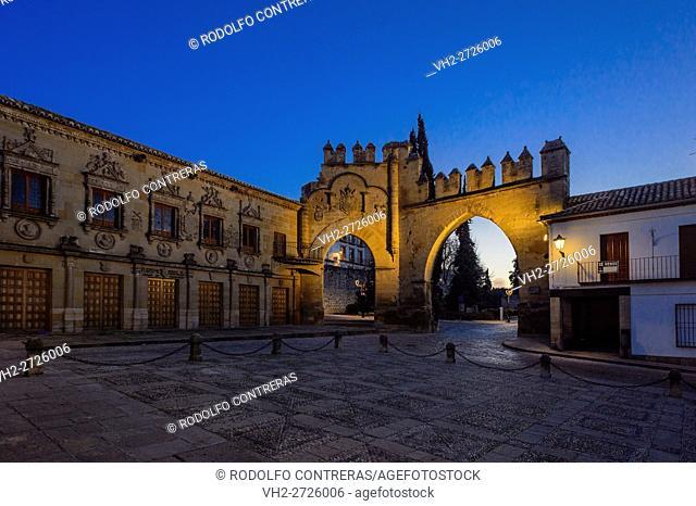 Puerta de Jaén and Arco de Villalar, Baeza, Jaen