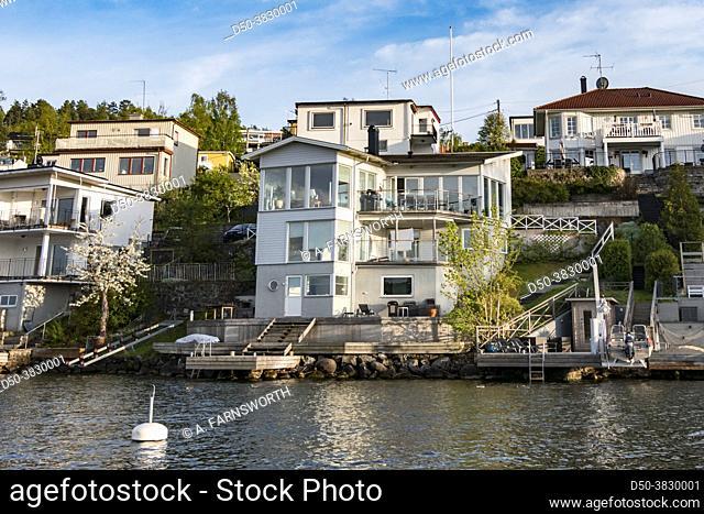 Stockholm, Sweden Houses in the neighborhood of Malarhojden