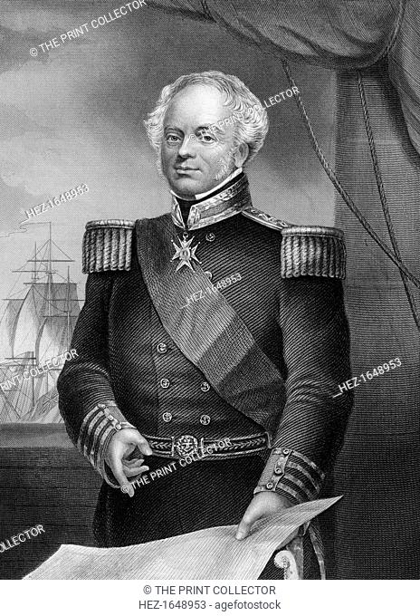Admiral Thomas Dundas (d1841), British naval officer of the Napoleonic Wars, 1857. From England's Battles by Sea and Land, volume II: Russia and Turkey