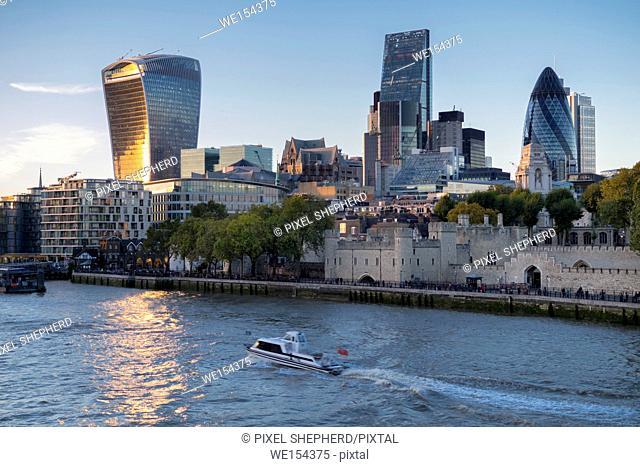 europe, UK, England, London, City skyline Gherkin etc