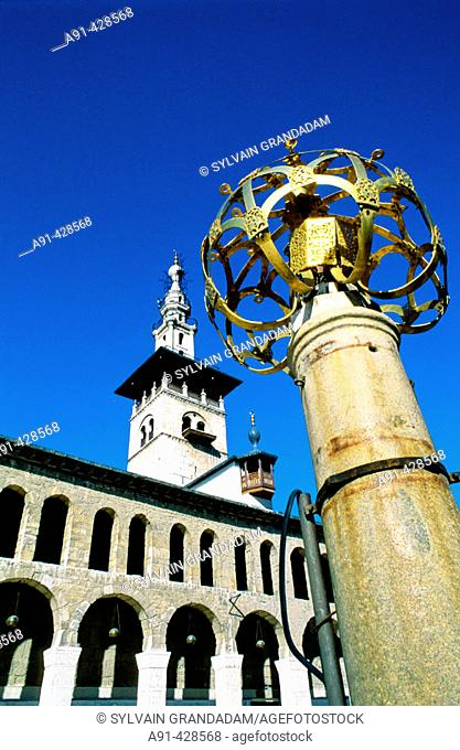 The Omeyyades mosque built 705-715 by the caliph Walid the first. City of Damascus. Syria
