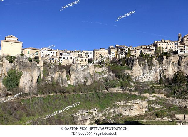 Cuenca, Jucar river gorge, UNESCO World Heritage Site. Castilla-La Mancha. Spain.