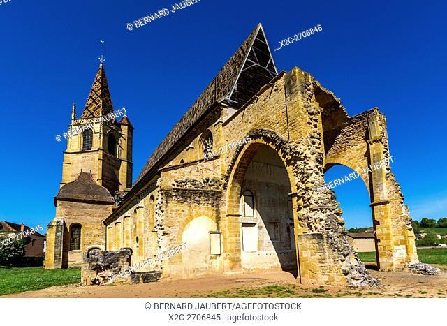 Church of La Benisson-Dieu Cistercian monastery. Loire. France