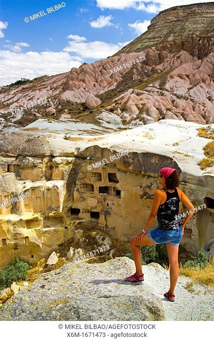 Troglodyte architecture  Cavusin  Cappadocia  Turkey
