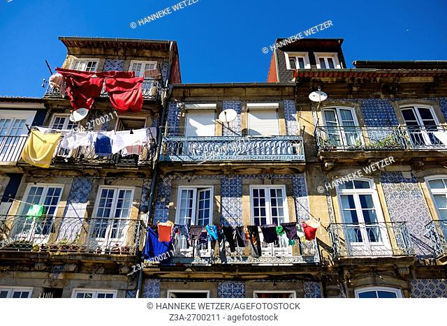 Typical houses of Porto, Portugal