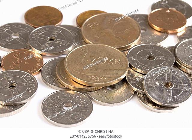 Closeup of Norwegian money