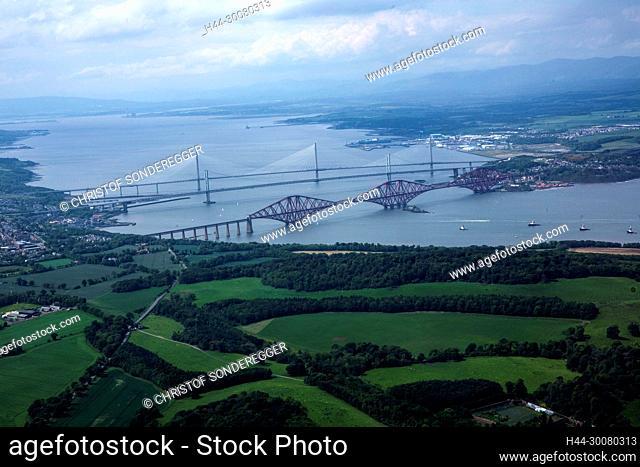 3 Brücken über den Firth of Forth bei Edinburgh