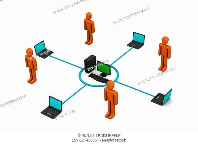Computer network communicating