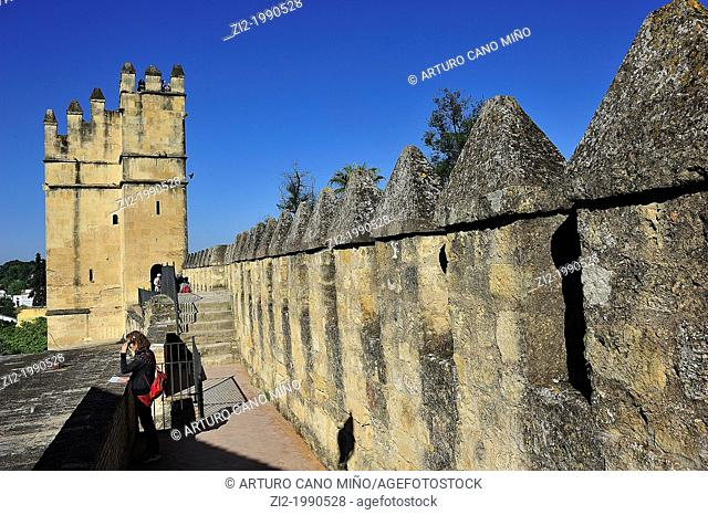 Walls of the Reales Alcazares. Córdoba, Spain