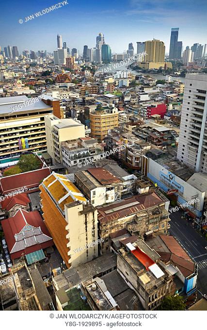 Bangkok city view from The Grand China Princess Hotel, Bangkok, Thailand