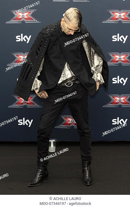 Achille Lauro during the press conference of presentation of the new edition of X-Factor 13. Monza (Italy), October 22nd, 2019