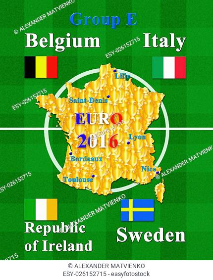 football championship EURO 2016 in France group E