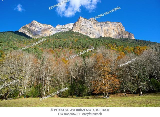 Libro Abierto Wall in the Pyrenees, Ordesa Valley National Park, Aragon, Huesca, Spain