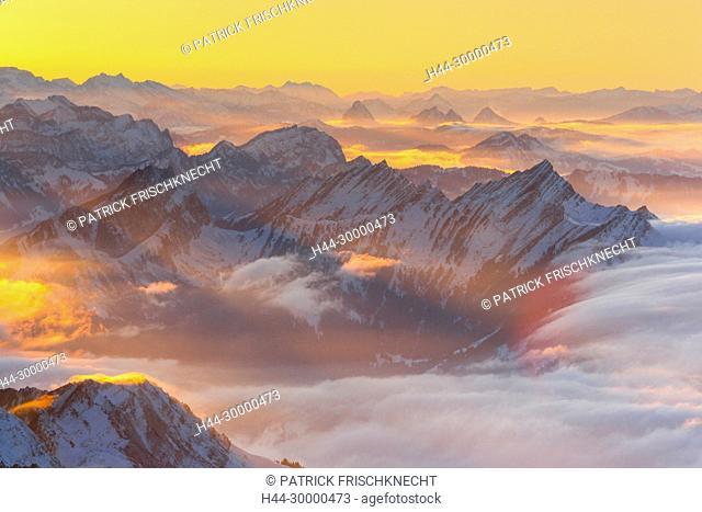 Mattstock und Speer, Schweizer Alpen, Schweiz