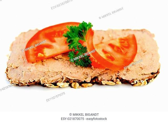 Dark Bread with Liver Pate