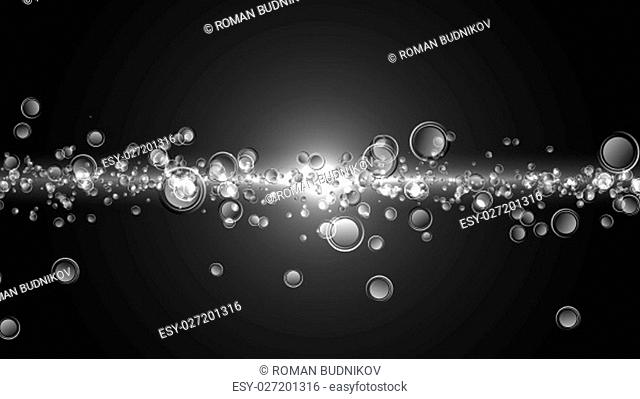 Abstract motion background, shining lights and particles