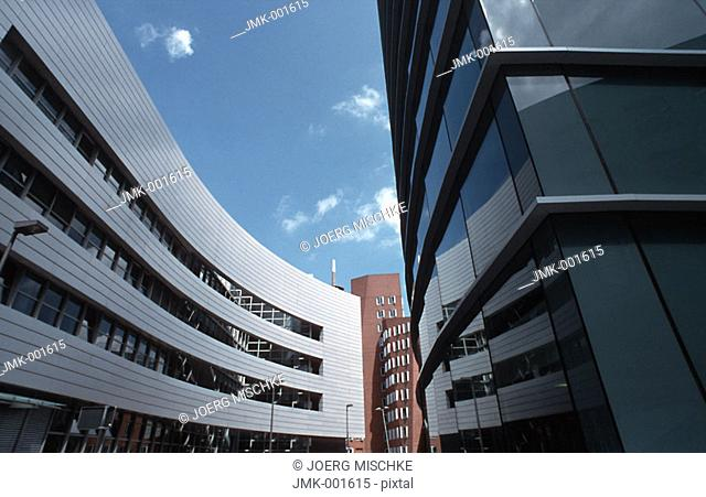 Modern office blocks, office buildings, dynamic architecture