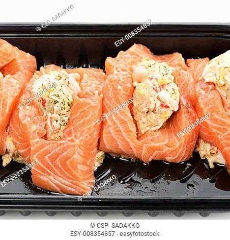 Raw Stuffed Salmon