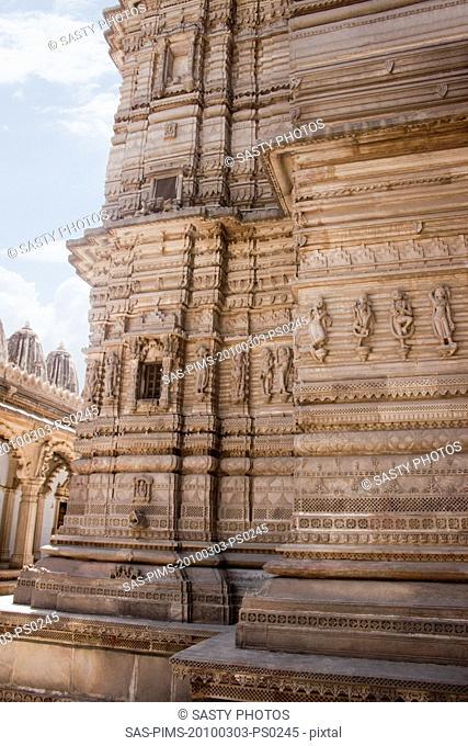 Architectural details of a temple, Swaminarayan Akshardham Temple, Ahmedabad, Gujarat, India