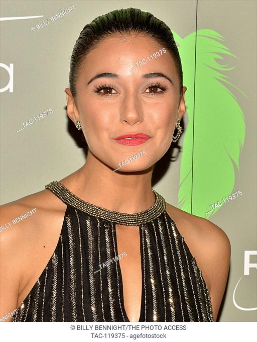 "Emmanuelle Chriqui arrives at the The 100th Anniversary of the Aviva """"A"""" Gala at the Four Seasons Hotel in Beverly Hills"