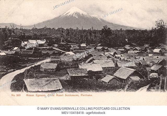 New Zealand - Mount Egmont - view from the Maori settlement at Parihaka