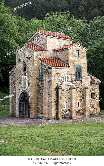 Romanesque church San Miguel de Lillo in Oviedo, Asturias, Spain
