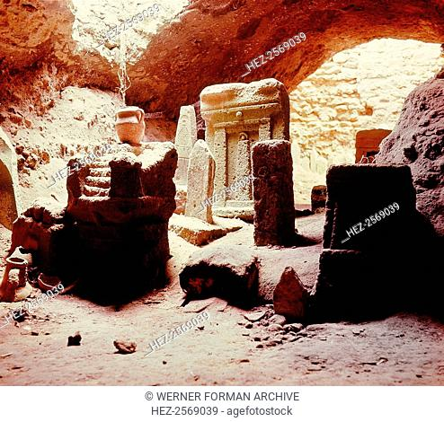 A Tophet (Phoenician graveyard) at Salammbo, the Phoenician port of Carthage. Country of Origin: Tunisia. Culture: Phoenician