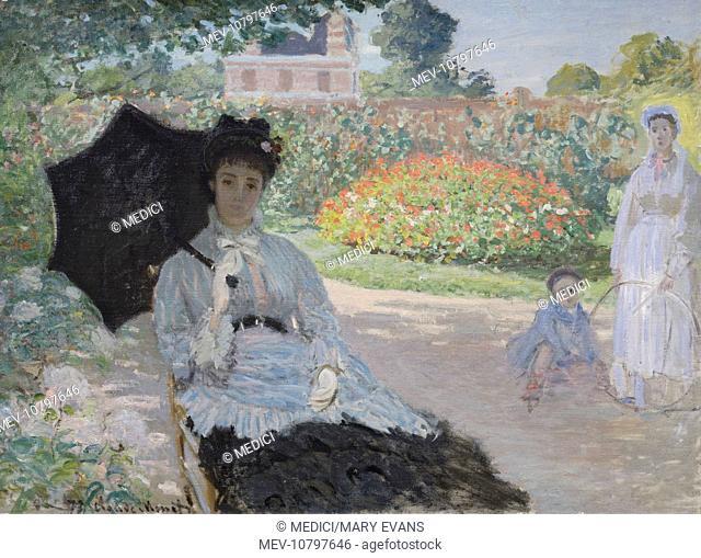 Camille Monet, Son and Nurse in the Garden' (1873)