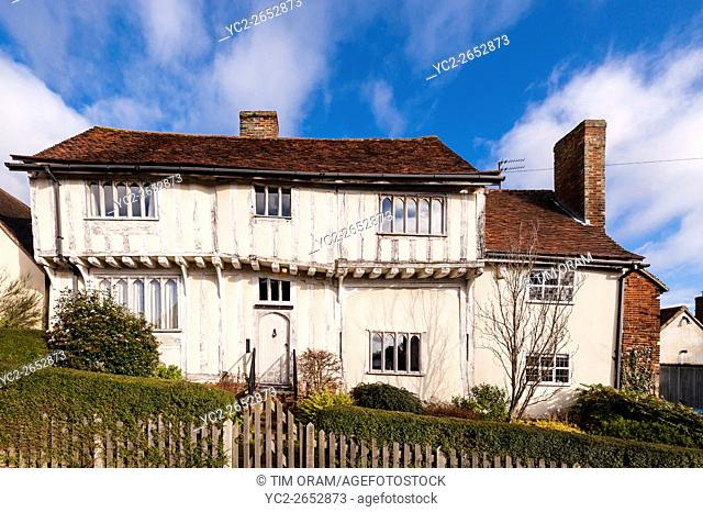 A pretty house in the picturesque village of Lavenham , Suffolk , England , Britain , Uk