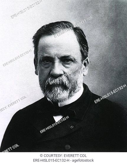 Louis Pasteur 1822-1895, French chemist and microbiologist who was the most important founder of medical microbiology. Ca. 1890