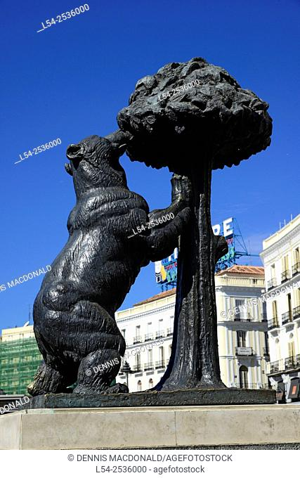 The Bear and Strawberry Tree Puerta del Sol Madrid Spain ES