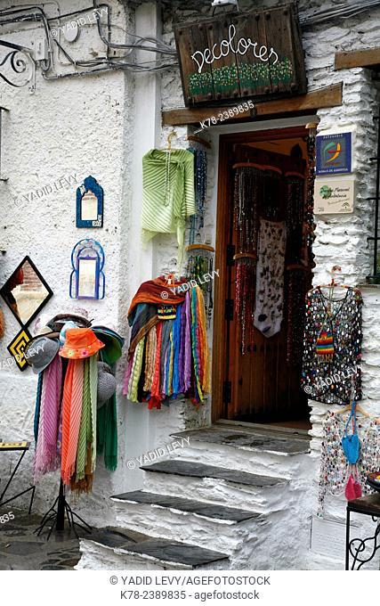 Shop in Pampaneira, Las Alpujarras, Andalucia, Spain