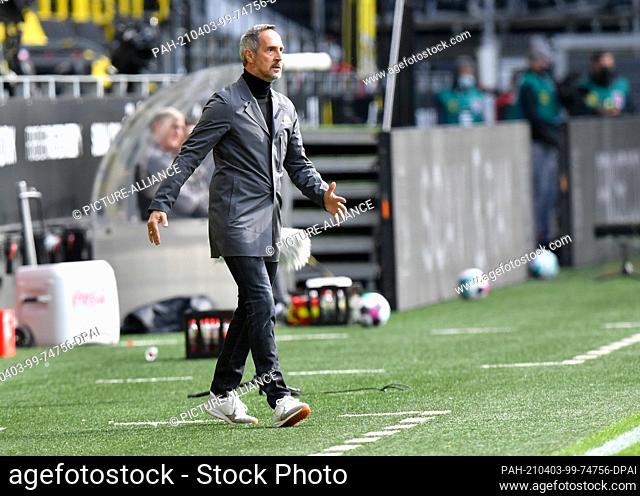 03 April 2021, North Rhine-Westphalia, Dortmund: Football: Bundesliga, Borussia Dortmund - Eintracht Frankfurt, Matchday 27 at Signal Iduna Park