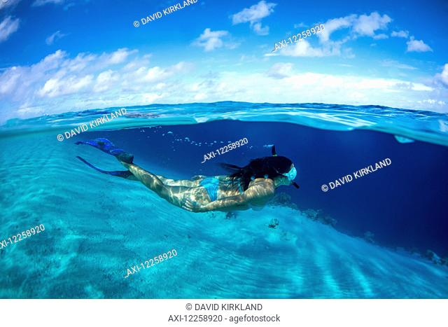 Snorkelling off a remote island; Marshall Islands