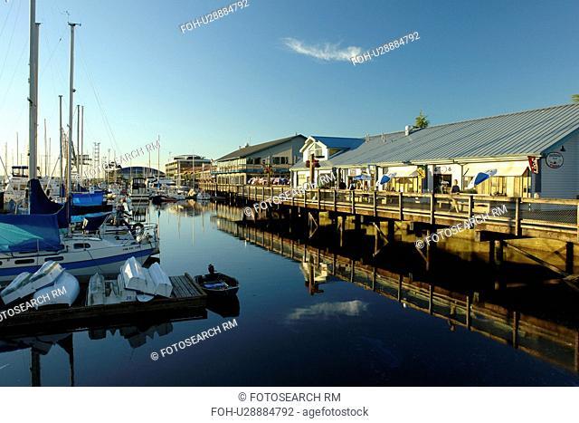 Olympia, WA, Washington, Puget Sound, Percival Landing Park, Budd Inlet, City Waterfront, marina