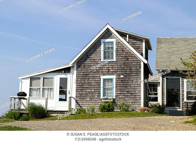 A home in the fishing village of Menemsha, Chilmark, Martha's Vineyard, Massachusetts, United States, North America. Editorial use only