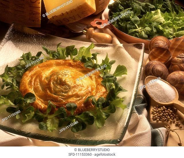 Sfogliatina con le lumache (snail pie, Italy)